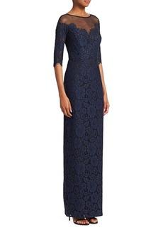 Teri Jon Lace Illusion Gown