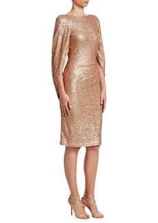 Teri Jon Sequined Knee-Length Dress