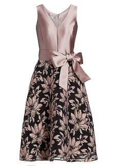 Teri Jon Side Bow Dress