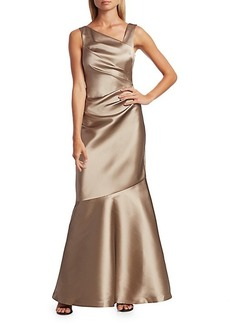 Teri Jon Stretch Taffeta Mermaid Gown
