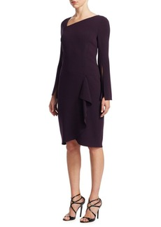 Asymmetric Neck Sheath Dress