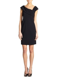 Teri Jon by Rickie Freeman Asymmetrical Neckline Dress