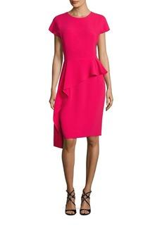 Teri Jon by Rickie Freeman Asymmetrical Peplum Dress