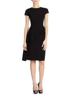 Teri Jon Asymmetrical Peplum Dress