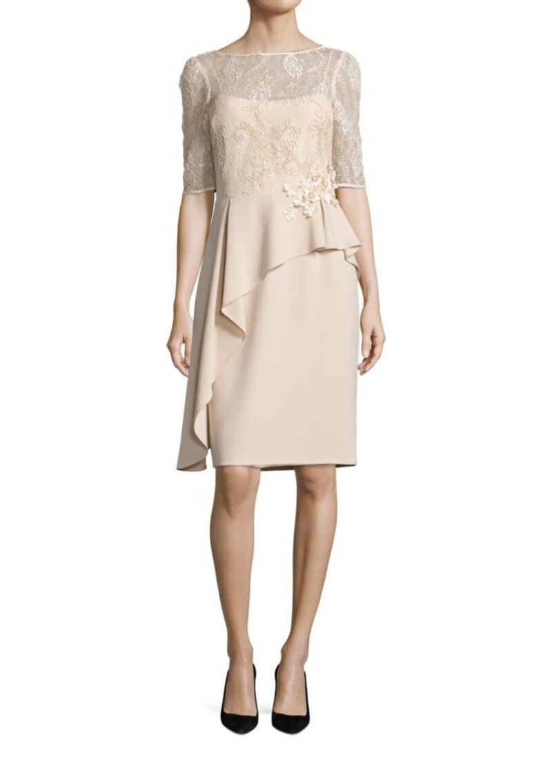 87619838 Teri Jon Teri Jon by Rickie Freeman Asymmetrical Peplum Sheath Dress ...