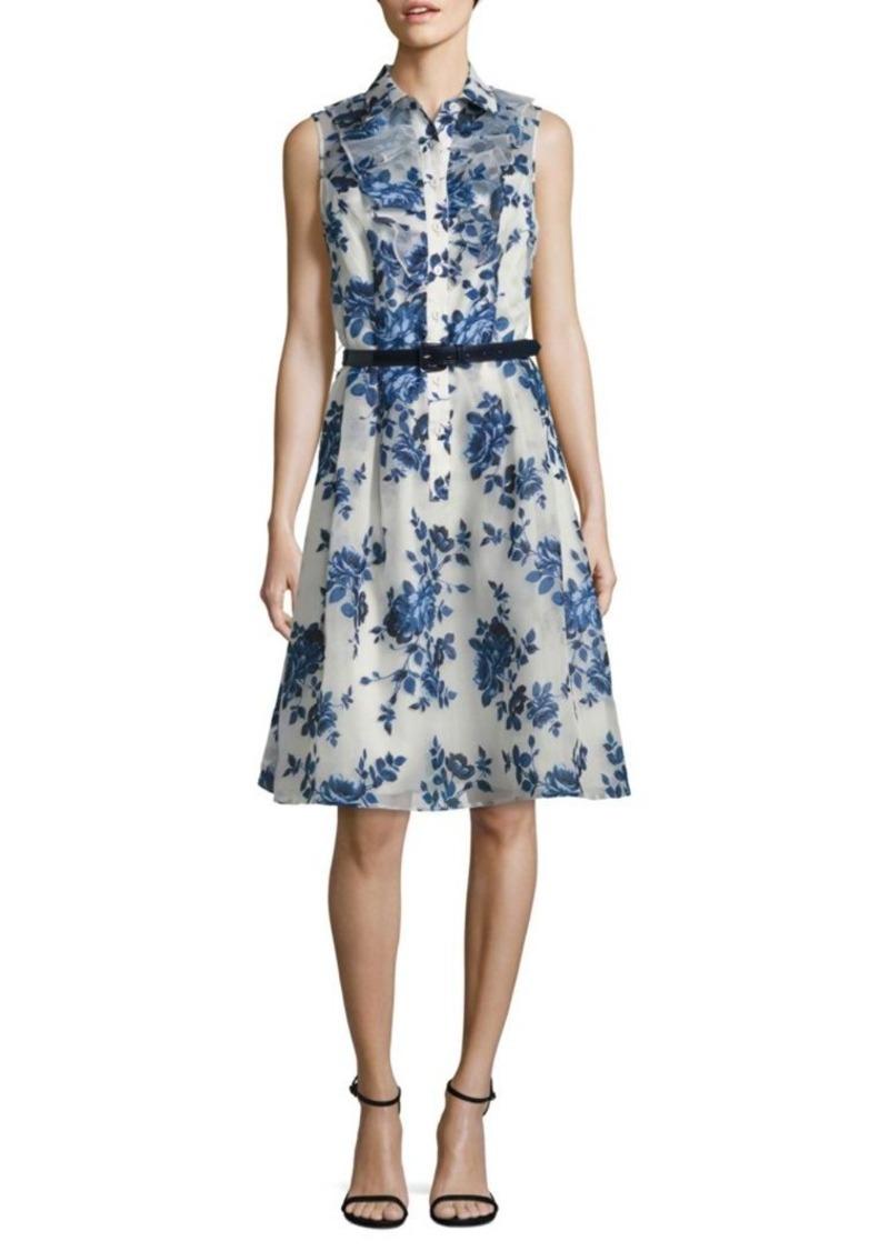 f2ad8e2df4 Teri Jon Teri Jon by Rickie Freeman Belted Floral-Print Shirtdress ...
