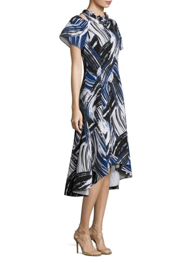 c9cdfbd4002 Teri Jon Teri Jon by Rickie Freeman Cold-Shoulder Printed Dress Now ...