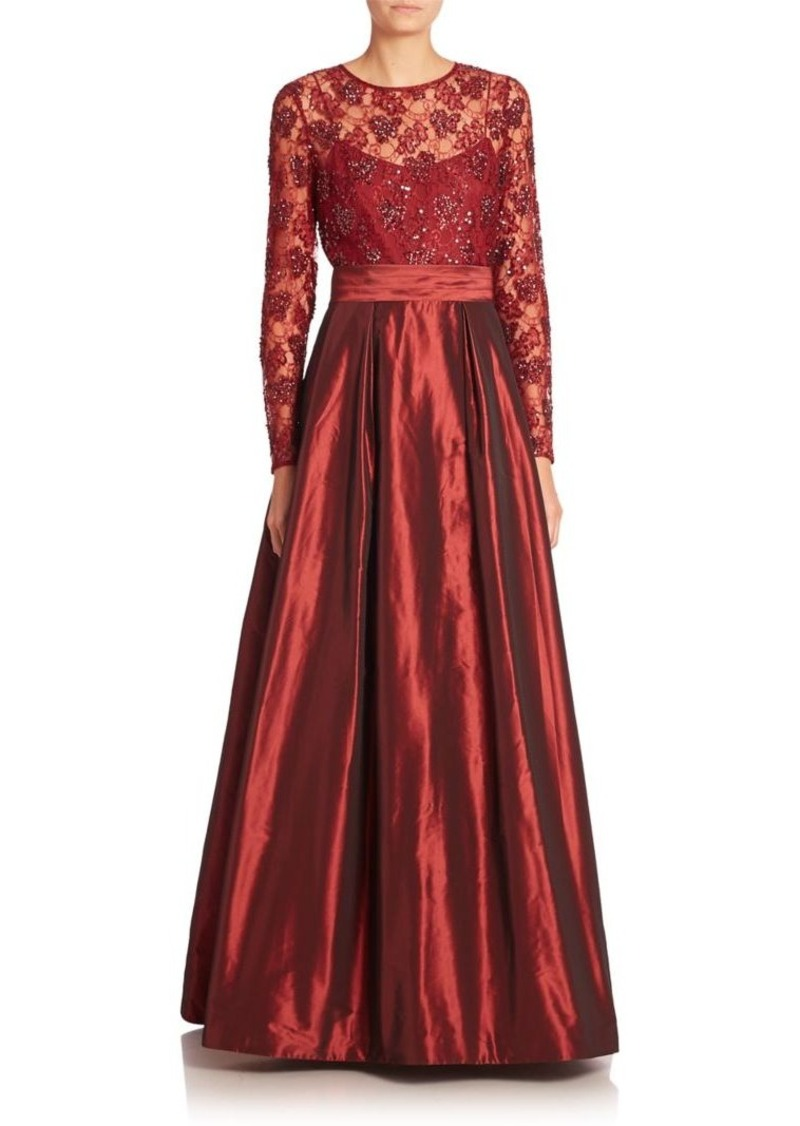 Teri Jon by Rickie Freeman Embellished A-Line Gown