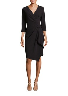 Teri Jon by Rickie Freeman Faux Wrap Dress
