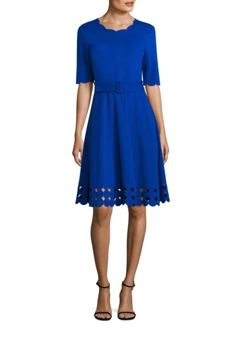 cb3794f1093f Teri Jon Teri Jon by Rickie Freeman Fit-&-Flare Cutout Dress   Dresses