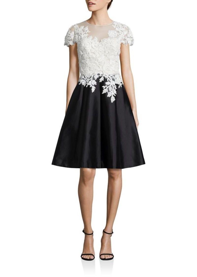 f5b230c3f4 Teri Jon Teri Jon by Rickie Freeman Fit   Flare Floral Lace Dress ...