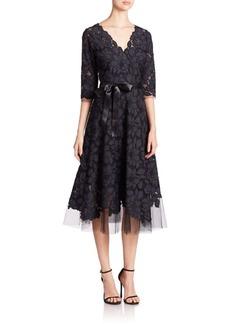Teri Jon by Rickie Freeman Flared Lace Dress