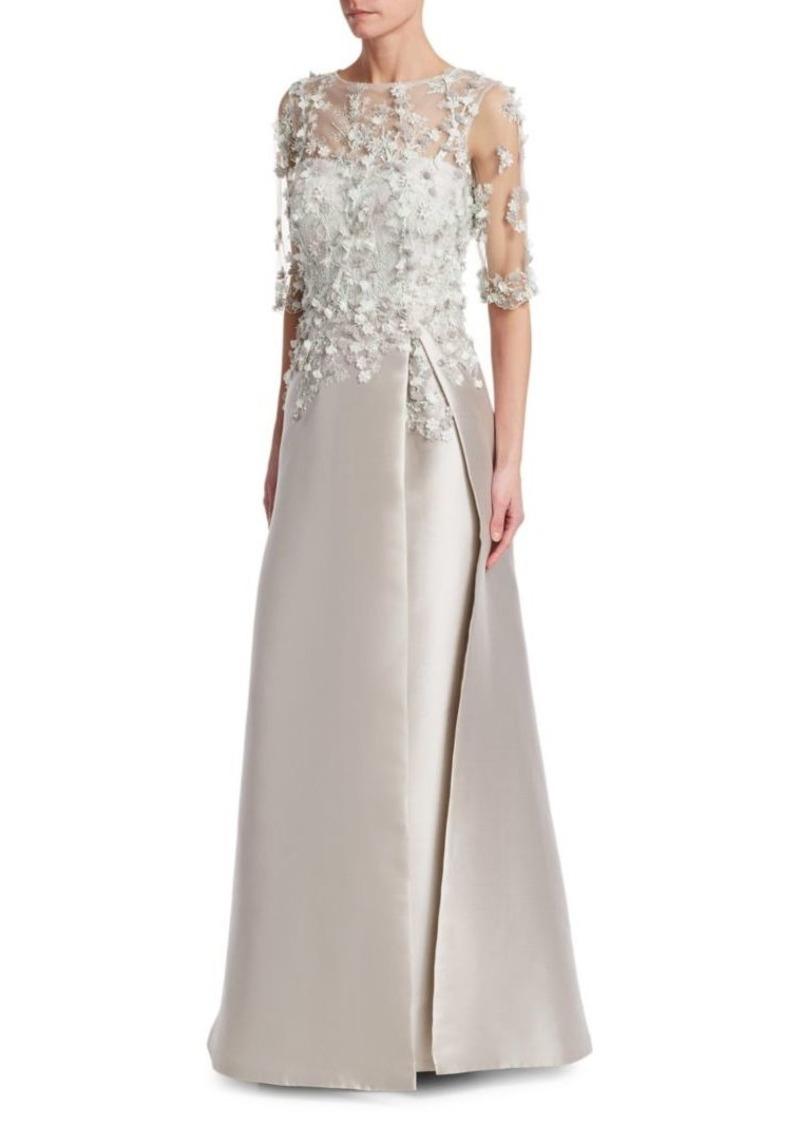 Teri Jon Floral-Applique Embellished Gown | Dresses - Shop It To Me