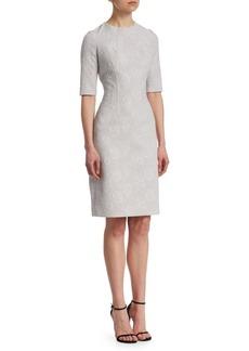 Teri Jon Floral Jacquard Dress