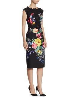 Teri Jon by Rickie Freeman Floral Knee-Length Dress