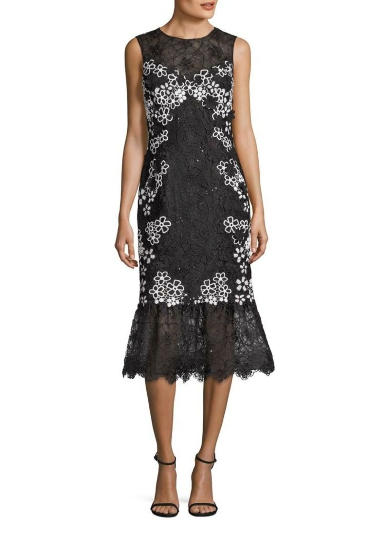 Teri Jon by Rickie Freeman Floral Lace Dress