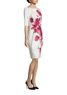 Teri Jon by Rickie Freeman Floral Printed Scuba Sheath Dress
