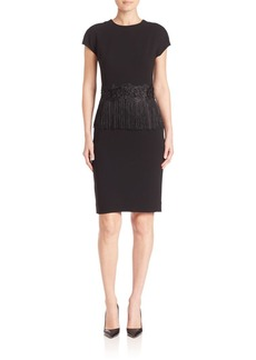 Teri Jon by Rickie Freeman Fringe Sheath Dress