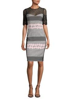 Teri Jon Geometric Lace Dress