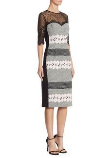 Teri Jon by Rickie Freeman Geometric Lace Dress