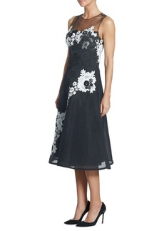 Teri Jon by Rickie Freeman Illusion Lace Neoprene Dress