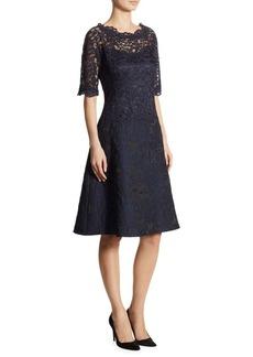 Teri Jon Lace A-Line Dress
