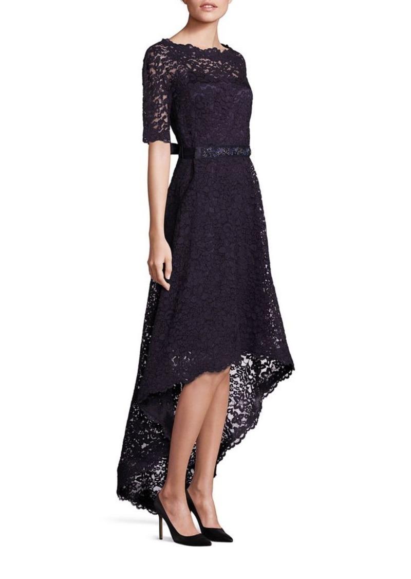 Teri Jon Lace Hi-Lo Gown