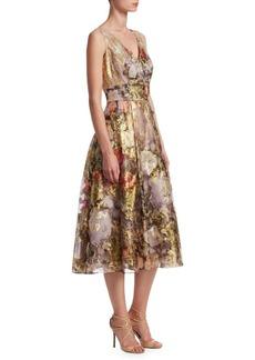 Teri Jon Metallic Organza Dress