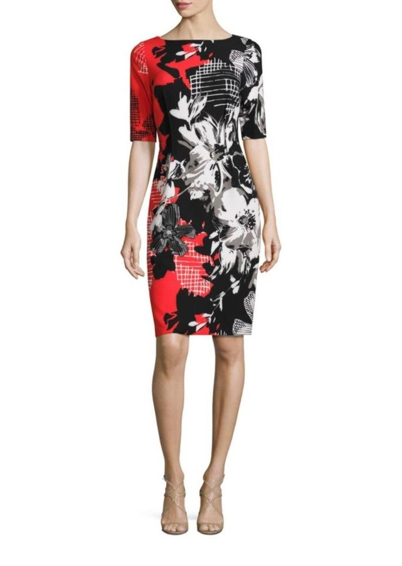 By Rickie Freeman Painterly Fl Printed Bodycon Dress Teri Jon