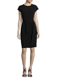 Teri Jon by Rickie Freeman Ruched Embellished Dress
