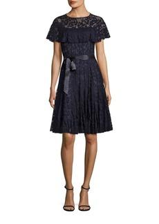Teri Jon by Rickie Freeman Ruffled Lace Dress