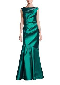 Teri Jon by Rickie Freeman Sheer Inset Mermaid Gown