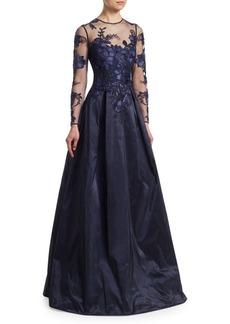Teri Jon Illusion Ball Gown