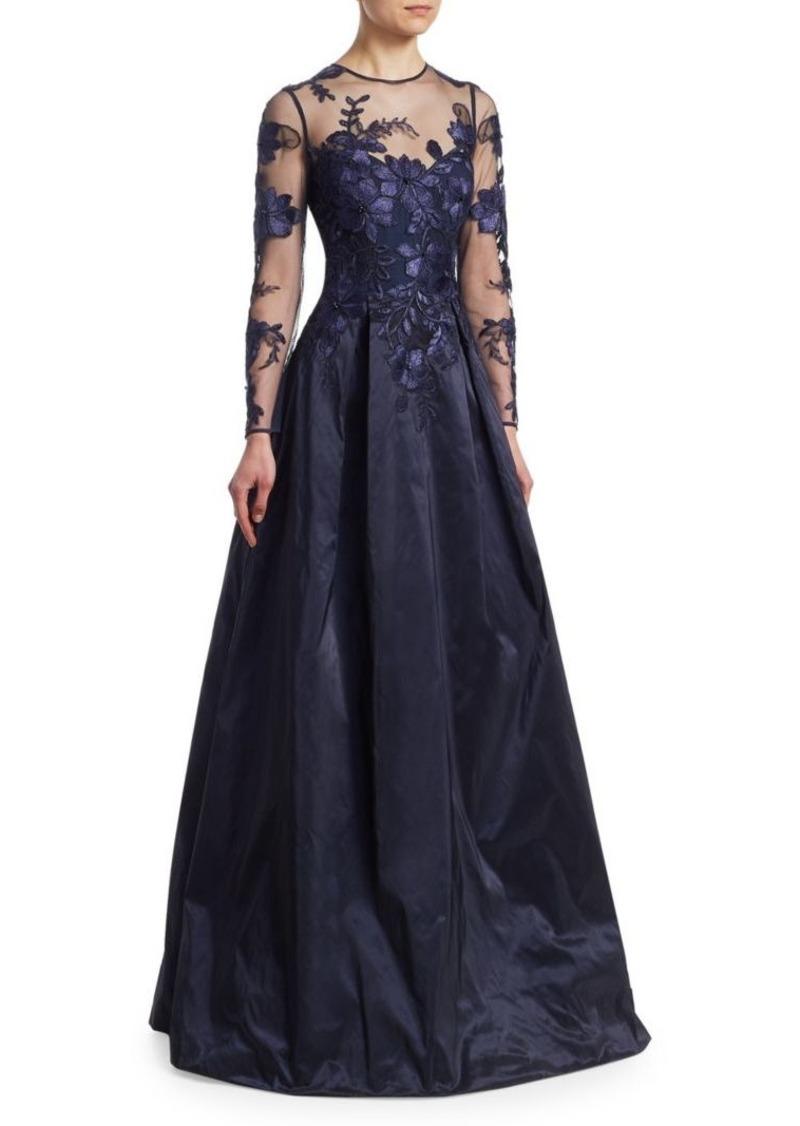 Teri Jon Teri Jon by Rickie Freeman Sheer Top Evening Gown   Dresses ...