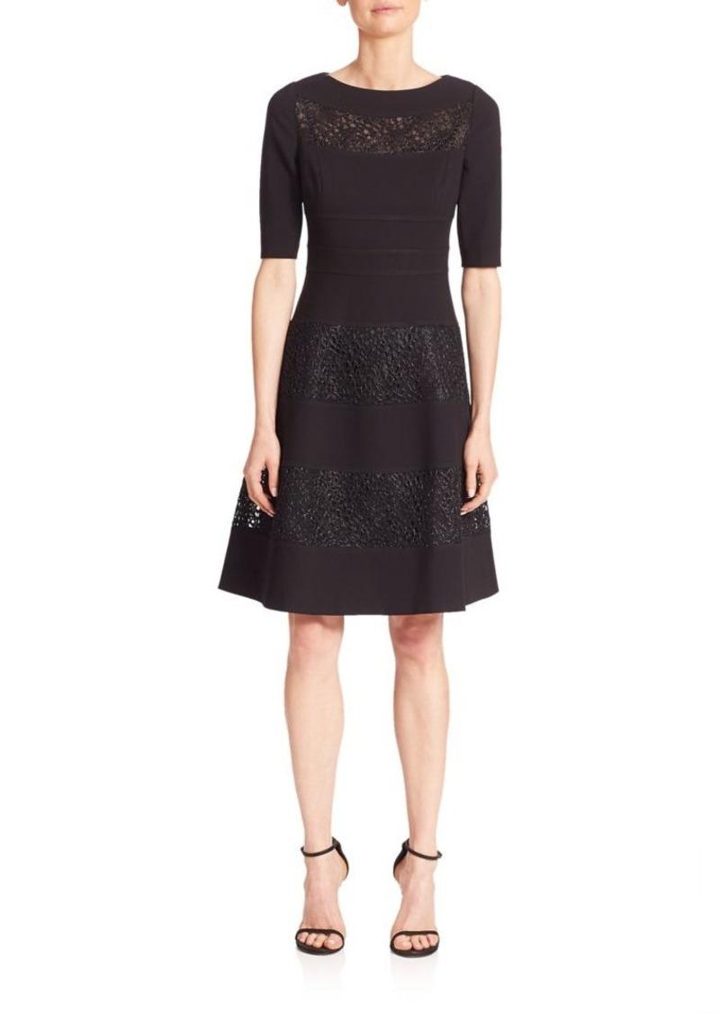 f2314369f72 Teri Jon Teri Jon by Rickie Freeman Short Sleeve Textureblock Dress ...