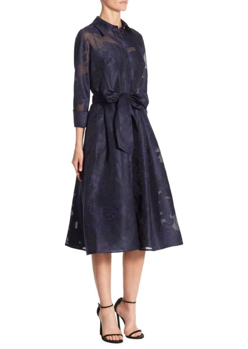 Teri Jon Skirt Framed Dress