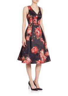 Teri Jon by Rickie Freeman Sleeveless Floral Dress