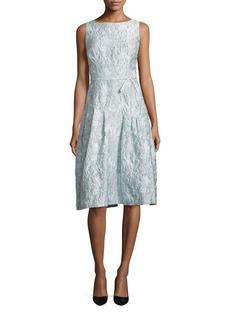 Teri Jon by Rickie Freeman Sleeveless Metallic Jacquard Dress