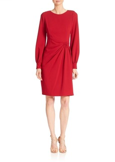Teri Jon by Rickie Freeman Solid Long Sleeve Dress