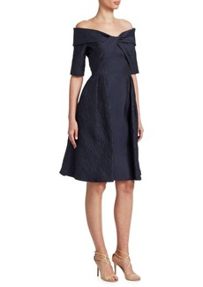 Teri Jon Textured Cocktail Dress