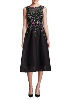 Teri Jon Embellished A-Line Dress