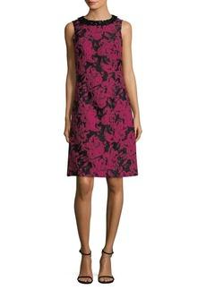 Teri Jon Sleeveless Brocade Sheath Dress