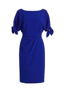 Teri Jon Tie-Sleeve Dress