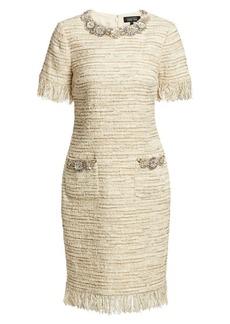 Teri Jon Tweed Sheath Dress