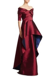 Teri Jon Twist Front Gown