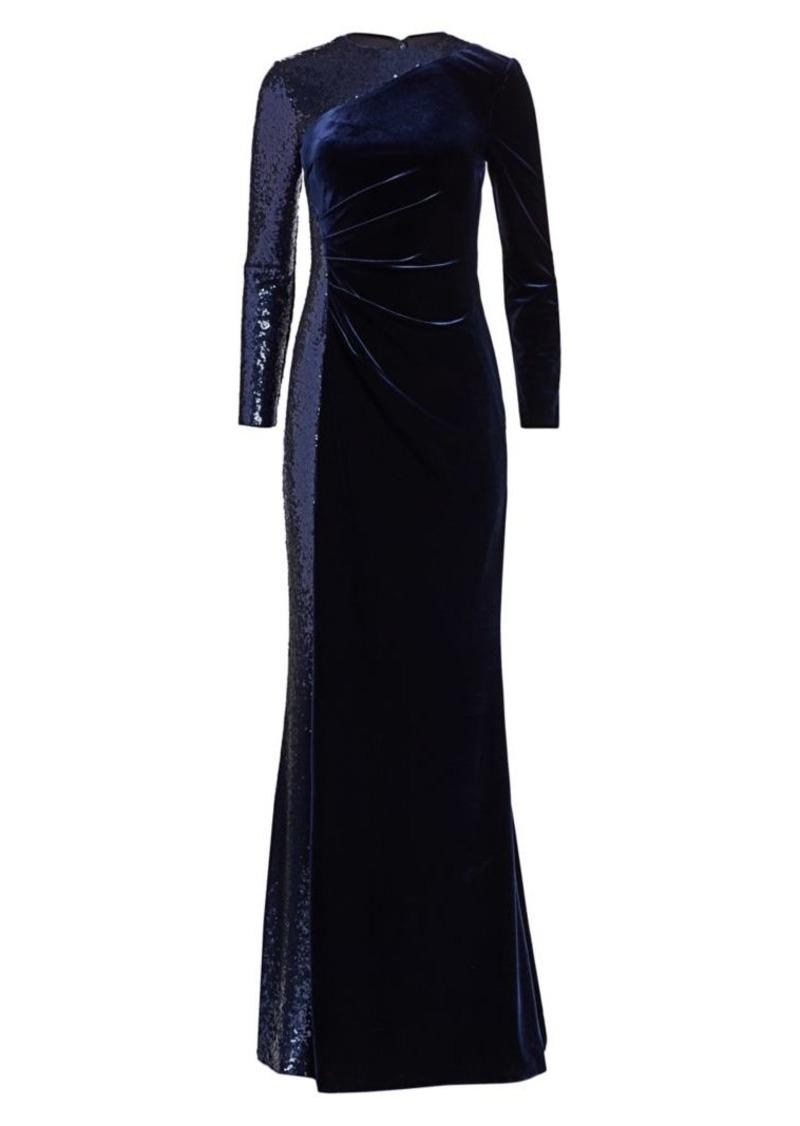 Teri Jon Velvet Sequin Gown