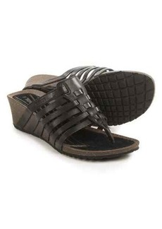 Teva Cabrillo 3 Thong Sandals - Leather, Wedge Heel (For Women)