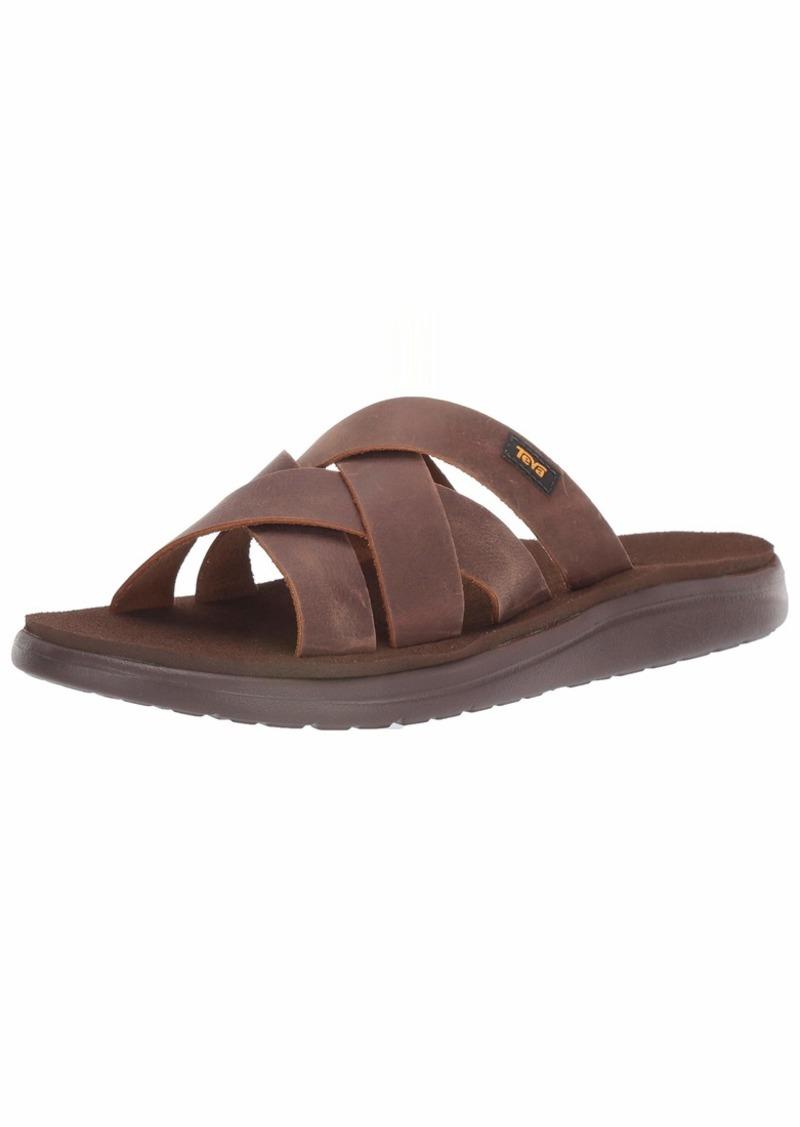 Teva Men's M VOYA Slide Leather Sandal   Medium US