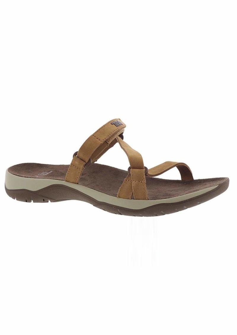 Teva Women's Elzada Slide Lea Sandal  9.5 Medium US