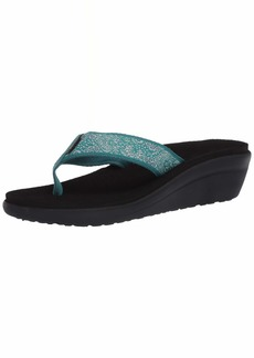 Teva Womens W VOYA Wedge Sandal   Medium US